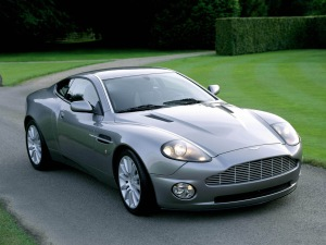 The Aston Martin V12 Vanquish as seen in the film Die Another Day.