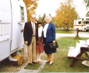 Camping with my grandparents (we'd just returned from Church) when I was 12. My youth was plagued by bad haircuts haha.